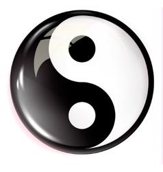 Volumetric image of feng shui yin yang vector