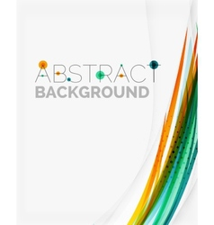 Bright colorful line abstract background vector image