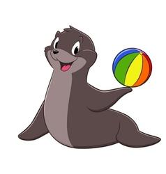 Cartoon Sea Lion vector image vector image