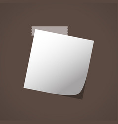 close up of white note paper reminder vector image