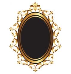 Golden Baroque Mirror frame vector image vector image