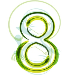 Green number 8 vector image vector image