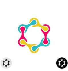 Hexagon tech science logo template Social vector image vector image