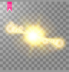 lens flare effect isolated on transparent vector image