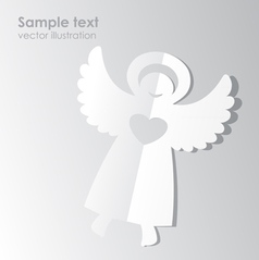 paper angel template vector image vector image