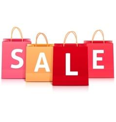 Sale shopping bag set vector image vector image