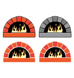 set of ovens vector image vector image