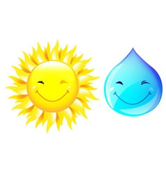 smiling drop of water vector image