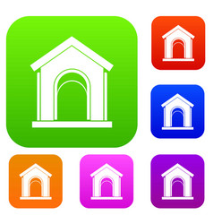 toy house set collection vector image