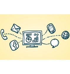Communication Network vector image vector image