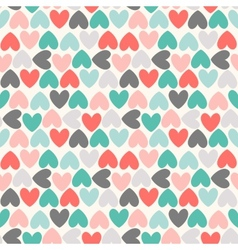 Floral seamless pattern Red green black and white vector image