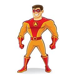 Handsome Superhero vector image vector image