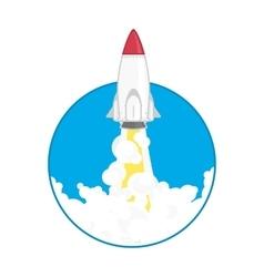 launch a space rocket vector image vector image