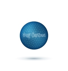 Realistic Christmas blue Ball with Shadows vector image