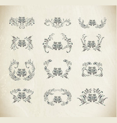 silver ornament on white background vector image