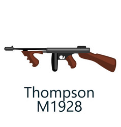 thompson machine gun favorite weapon of gangsters vector image