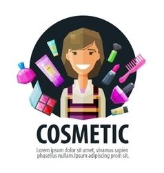 beauty salon cosmetic logo design template vector image