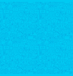 Blue contact us seamless pattern vector