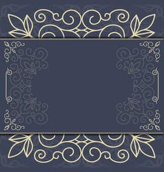 Elegant ornate background ornament for invitations vector image
