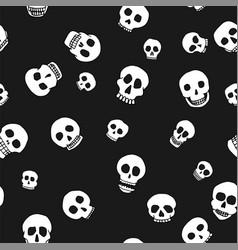 hand drawn skull seamless pattern vector image vector image