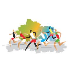 marathon runner race vector image vector image