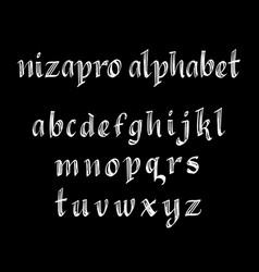 nizapro alphabet typography vector image vector image