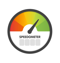 round speedometer fast speed template vector image