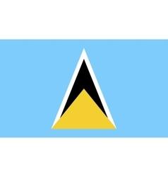 Saint Lucia flag image vector image