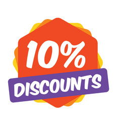 10 off discount promotion sale sale promo market vector image