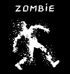A bullet-riddled body of zombies silhouette vector