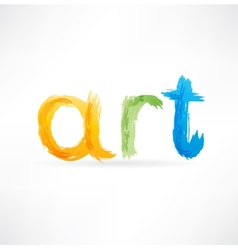 Art icon vector