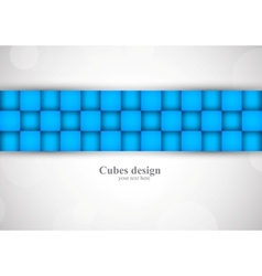 Background with blue squares vector image