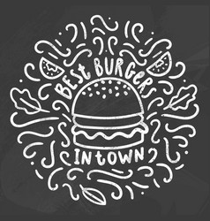 Best burgers in town vector