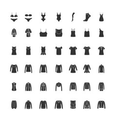 Black clothes icons part 1 vector
