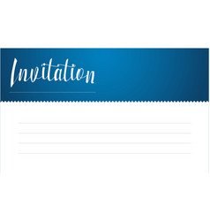 Blue invitation card style collection vector