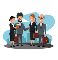 Business people teamwork vector