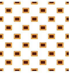 Butter biscuit pattern seamless vector