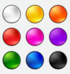 Button set vector