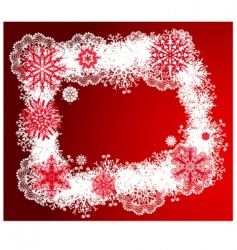 Christmas design frame vector image