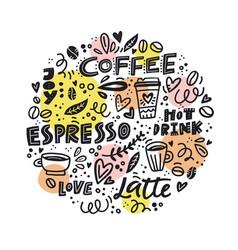 Circle coffee concept vector