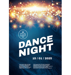 dance night music fest poster template vector image