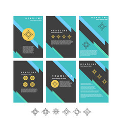 Design templates collection for banners vector