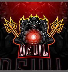 Devil esport mascot logo vector
