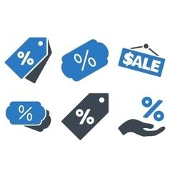 Discount Percent Flat Icons vector