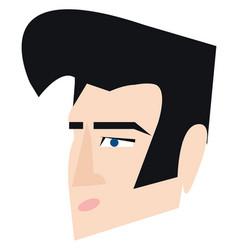Elvis presley hair style or color vector