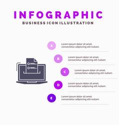 Features business computer online resume skills vector