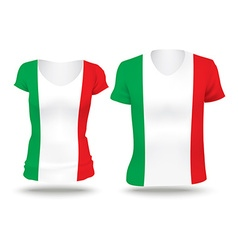 Flag shirt design of Italy vector image