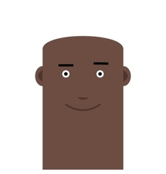 Flat face bald joyful man avatar character vector