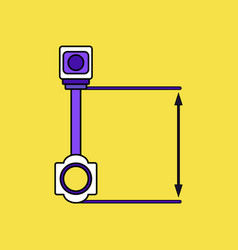 flat icon design collection car piston and arrows vector image
