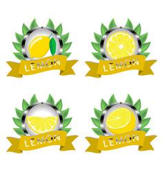 For ripe fruit yellow lemon vector